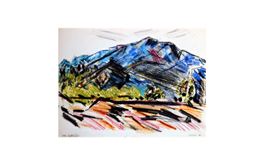 John Marin, Mt. Katahdin, 1941, crayon and pencil on paper