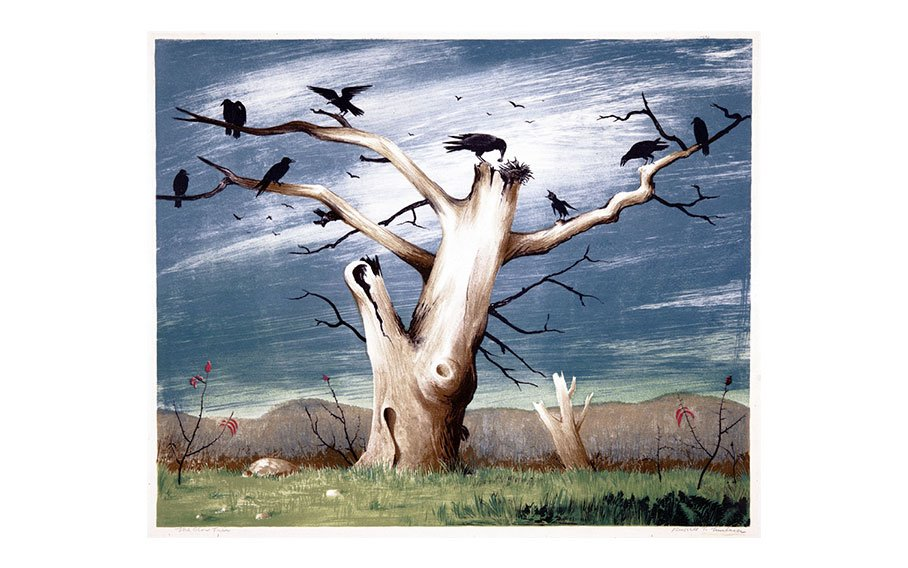 Russell T. Limbach, The Crow Tree, 1940-1965, lithograph