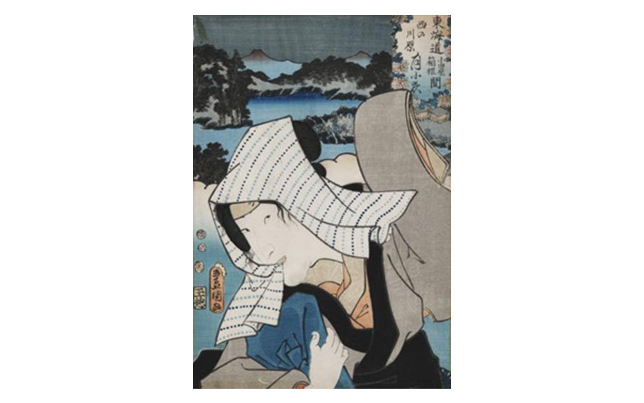 Utagawa Toyokuni, Untitled (Kabuki actor with handkerchief), early 19th century, color woodcut