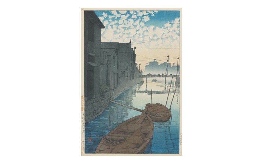 Kawase Hasui, Morning on Daikon Gashi, Tokyo, ca. 1920