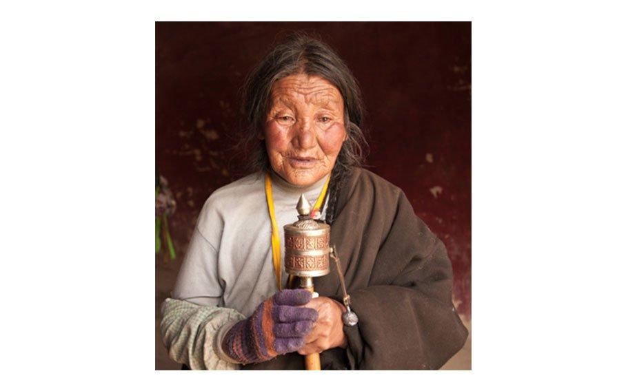 Woman with Prayer Wheel
