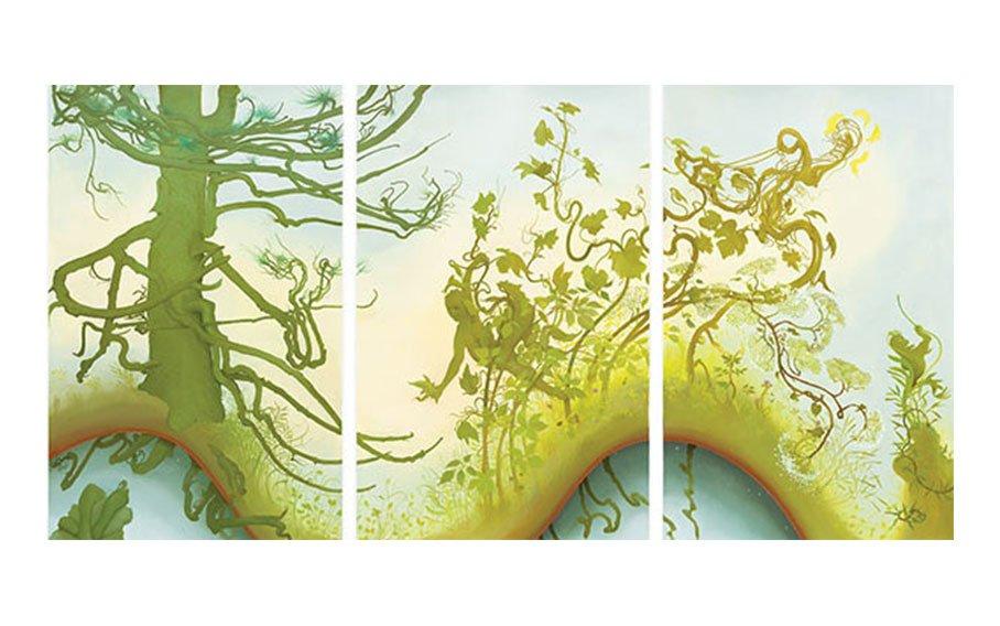 Inka Essenhigh, Summer Landscape, 2013, oil on paper