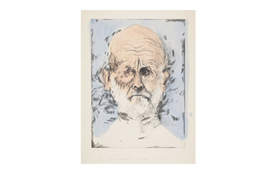 Jim Dine, Blue Watercolor, 2005, lithograph and drypoint with hand-coloring