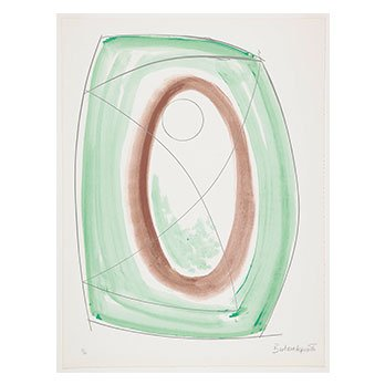 Barbara Hepworth, November Green, from Opposing Forms, 1969-70, lithograph.