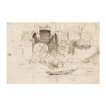 James McNeill Whistler, San Biagio, 1879, etching and drypoint.