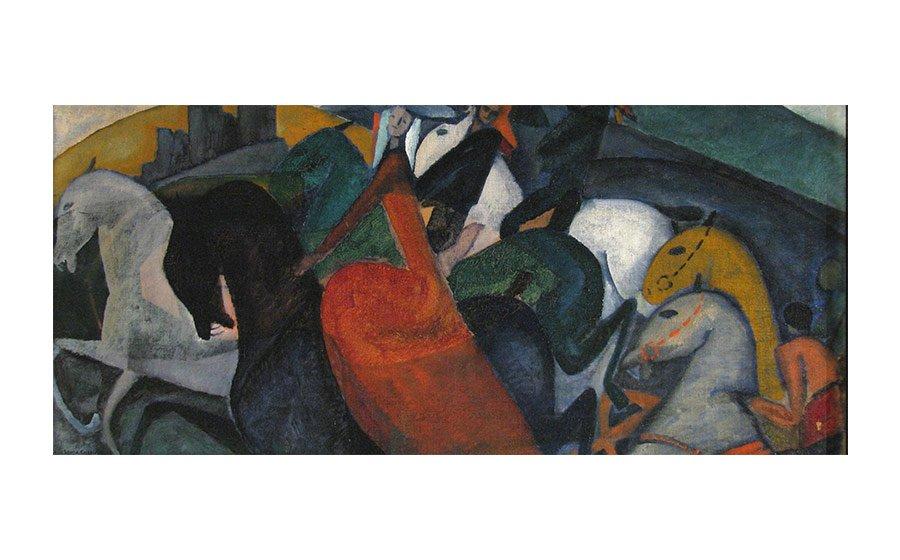 Catherine Hinkle, Scintillation, 1949, oil on canvas