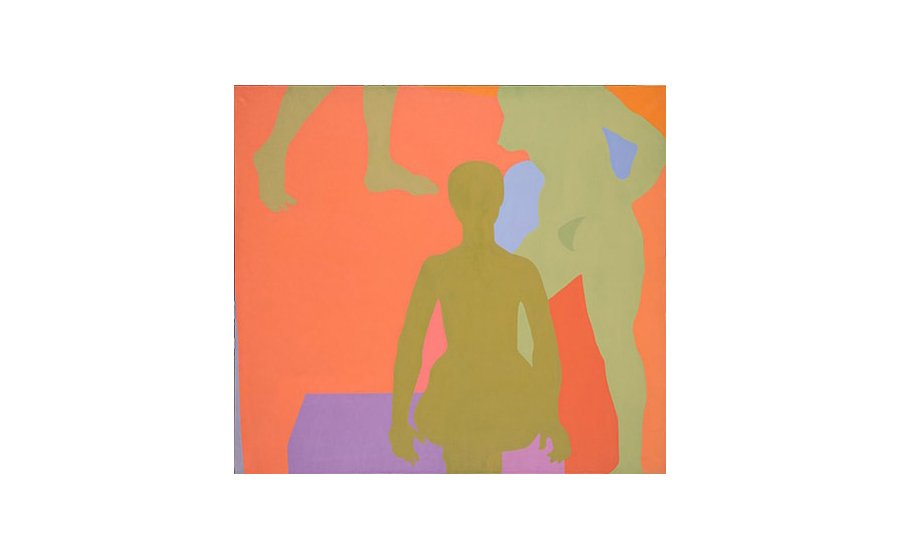 Kay WalkingStick, Me and My Neon Box, 1971, acrylic on canvas