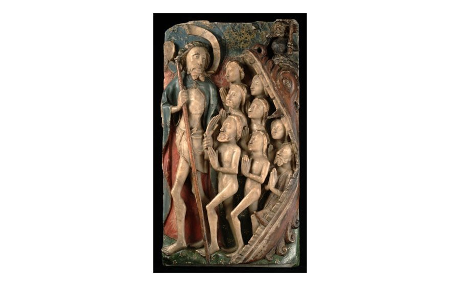 Panel of the Harrowing of Hell, late 15th century