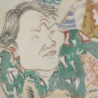 Yun-Fei Ji, The nativists and immigrants, 2021 [detail], ink and watercolor on paper. Courtesy of the Artist and James Cohan Gallery