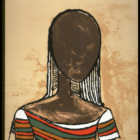 Wilfredo Lam, Retrato, 1982, lithograph. © OAS AMA   Art Museum of the Americas. Courtesy of the IDB Art Collection.