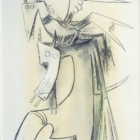 Wilfredo Lam, Untitled, 1965, charcoal and pastel. © OAS AMA   Art Museum of the Americas. Courtesy of the IDB Art Collection.