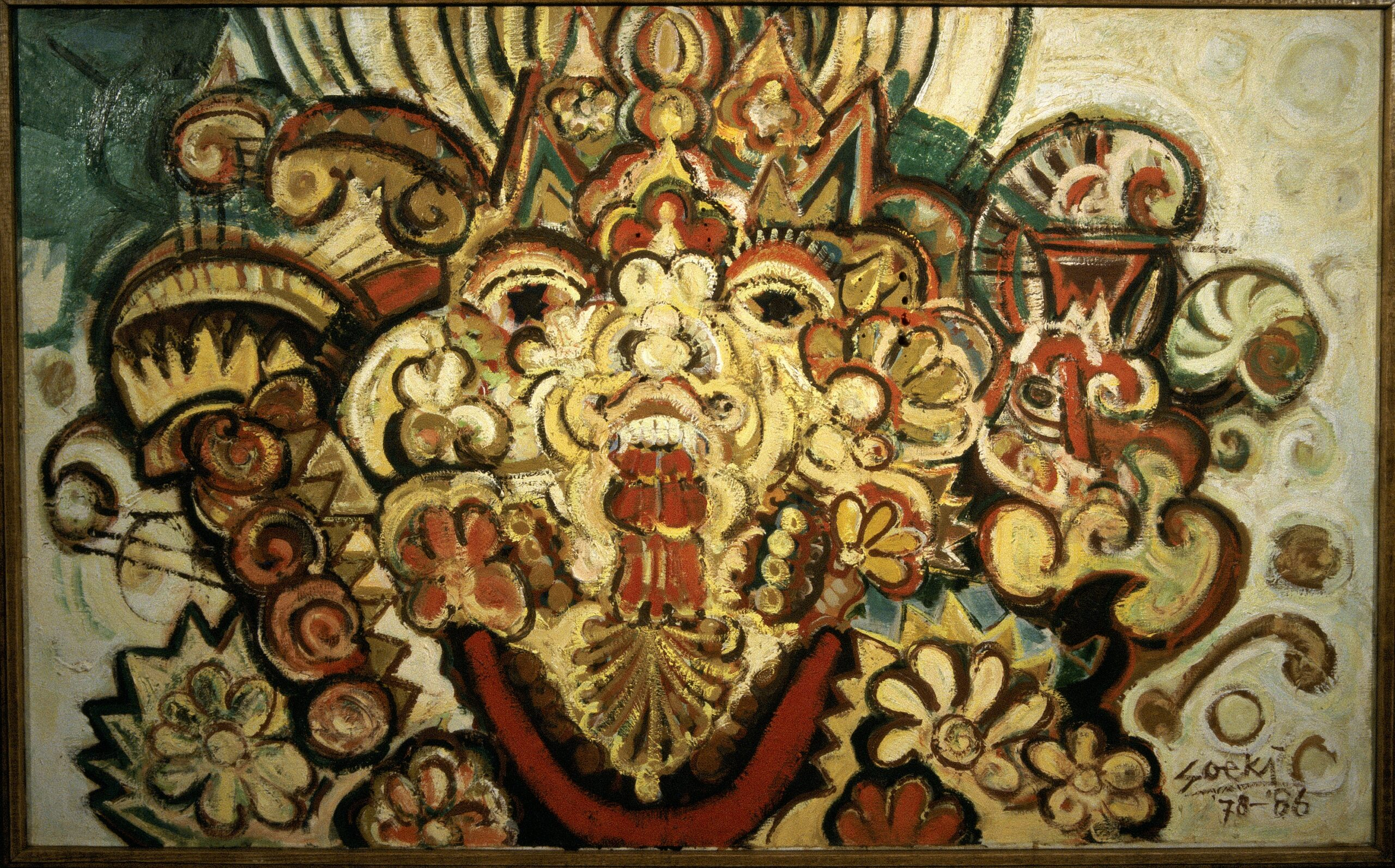 Soeki Irodikromo (Surinamese, 1945-), Untitled, 1986, oil on canvas, OAS AMA   Art Museum of the Americas Collection. Gift of the Government of Suriname.