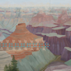 Kay WalkingStick (American/Cherokee Nation, b.1935), North Rim Clouds, oil on wood panel, Elisabeth Claire Lahti Fund purchase.